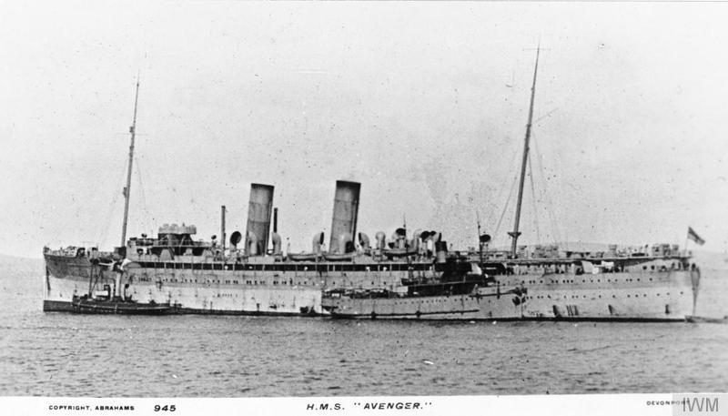 Armed merchant cruiser torpedoed and sunk on 14th June 1917 by German submarine SM U-69 while patrolling off the Shetland Islands ©  Imperial War Museum.