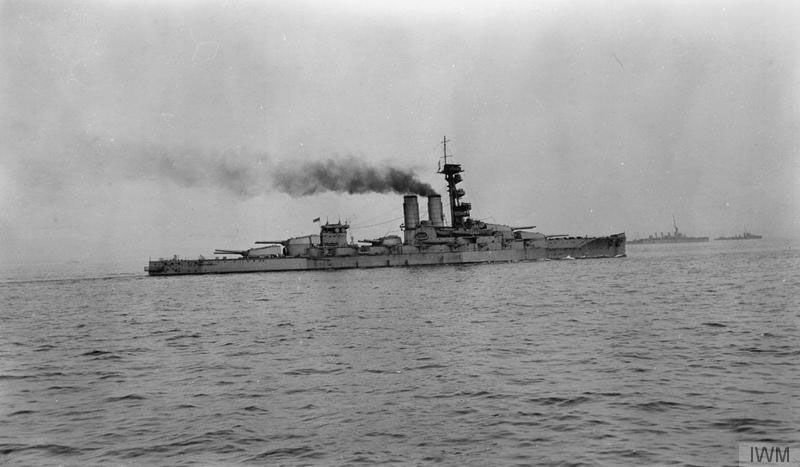HMS Erin in Scapa Flow © Imperial War Museum