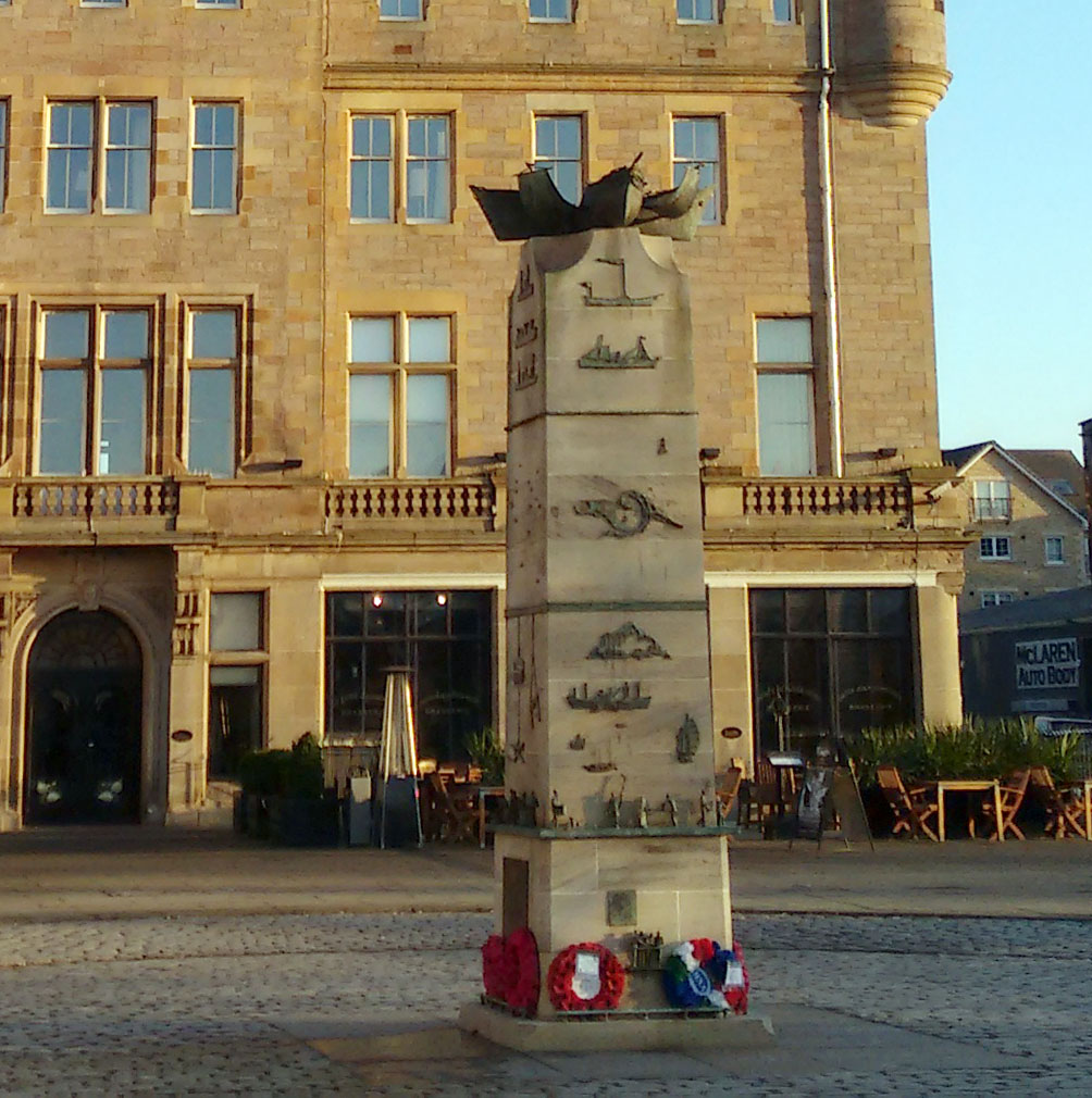 The Merchant Navy Memorial, Tower Place, Leith © Imperial War Museum.