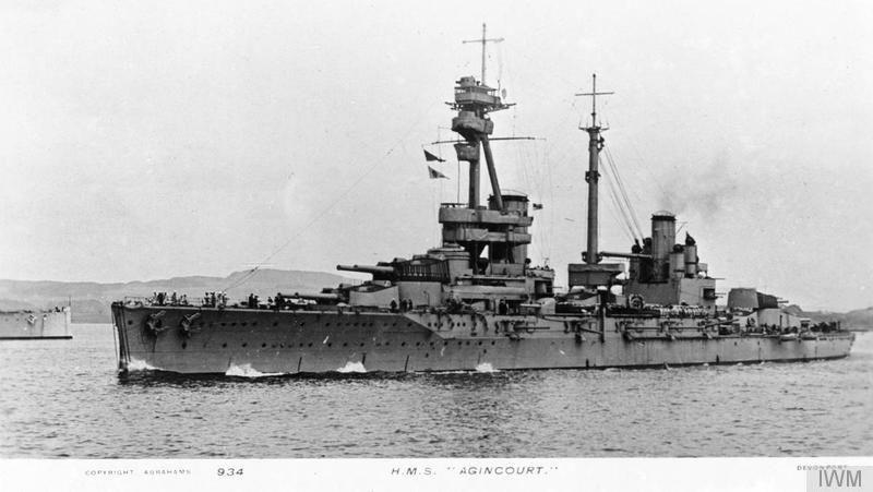 HMS Agincourt © Imperial War Museum