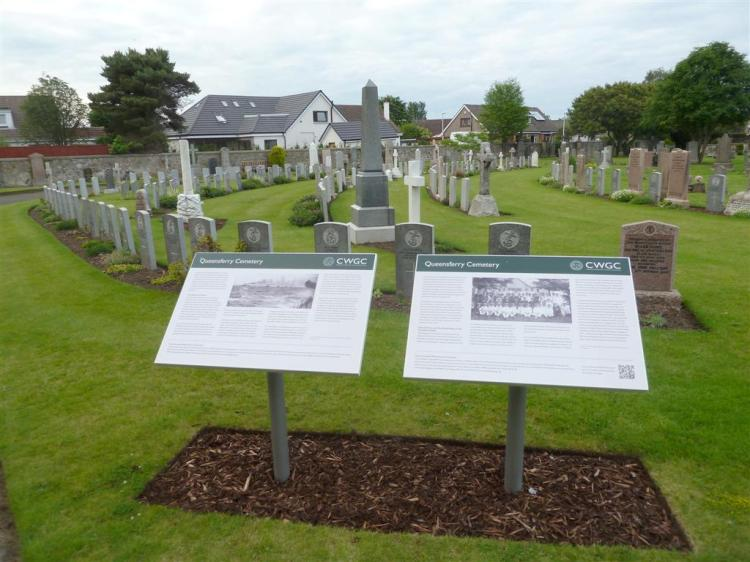 Queensferry Cemetery holds the Commonwealth Graves of 43 men.