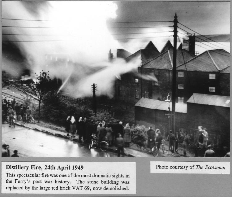 The Distillery Fire - picture courtesy of The Scotsman.