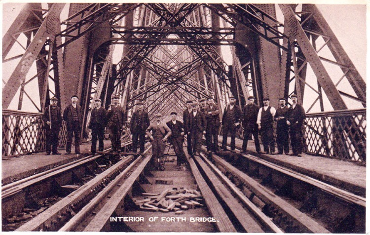 Workers on the Forth Bridge