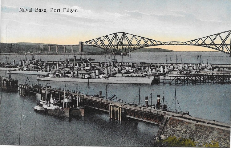 The Forth Bridge seen from the Naval Base at Port Edgar.