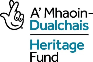 The National Lottery Heritage Fund logo in English and Gaelic.
